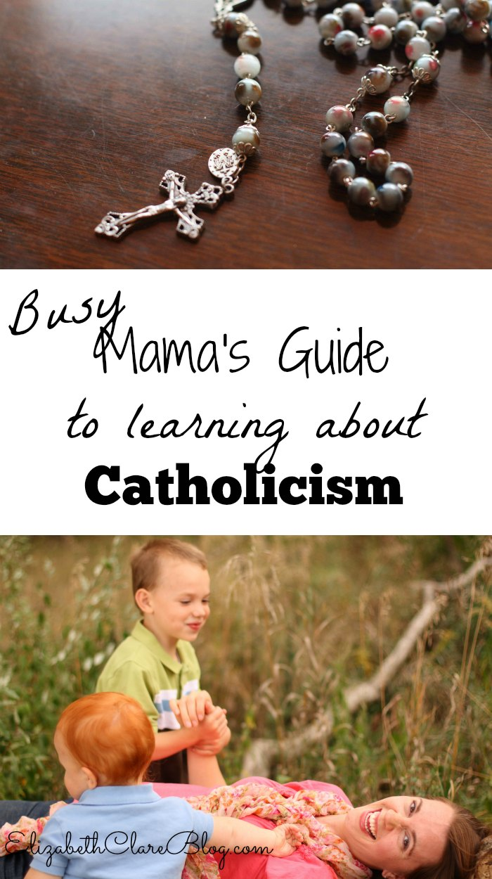 How can a busy mother learn about the Catholic faith? Here are some great tips and resources for self education.