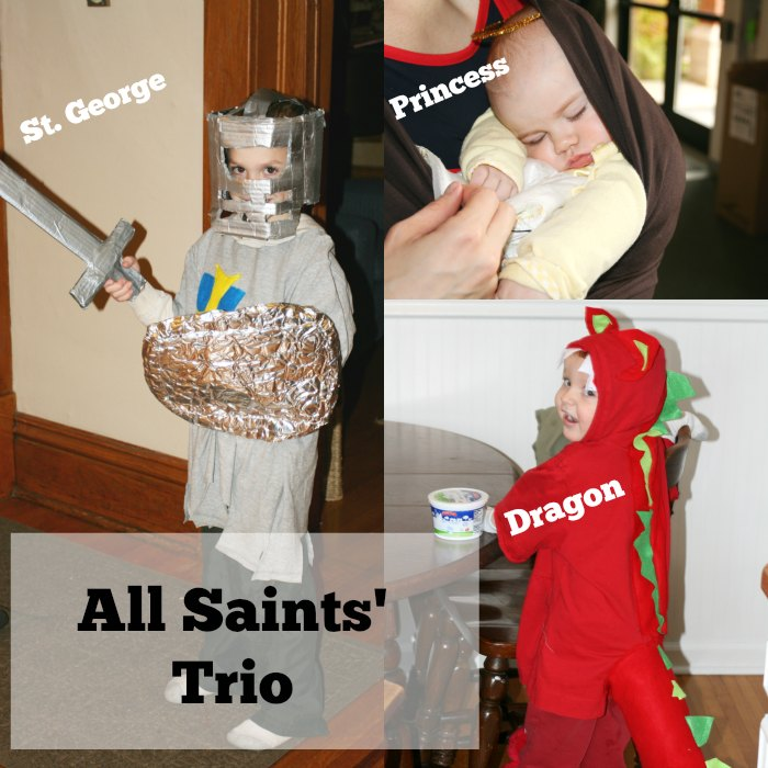 Dress your kiddos as a trio for All Saints!
