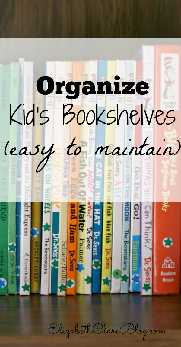 Easily Organize Kid's Bookshelves