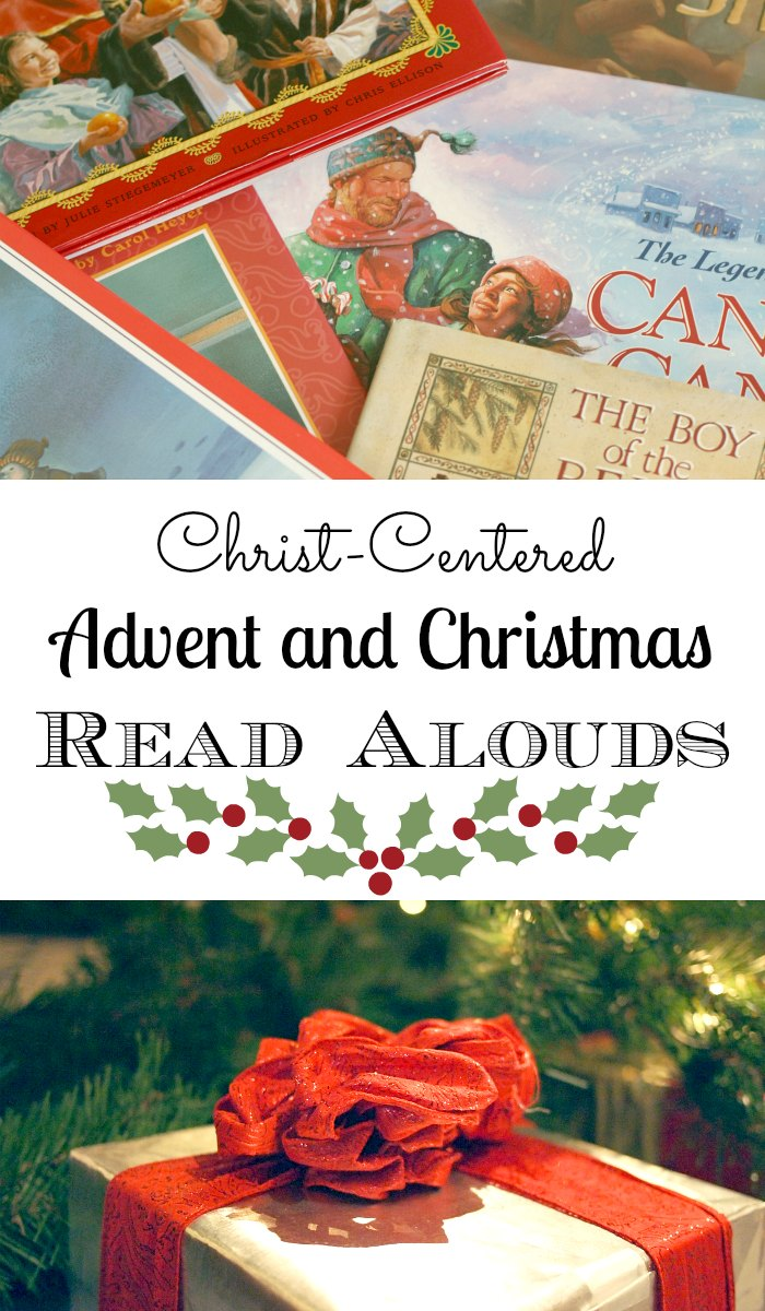 A list of Advent and Christmas read alouds the whole family will enjoy. Keep Jesus Christ in Christmas!