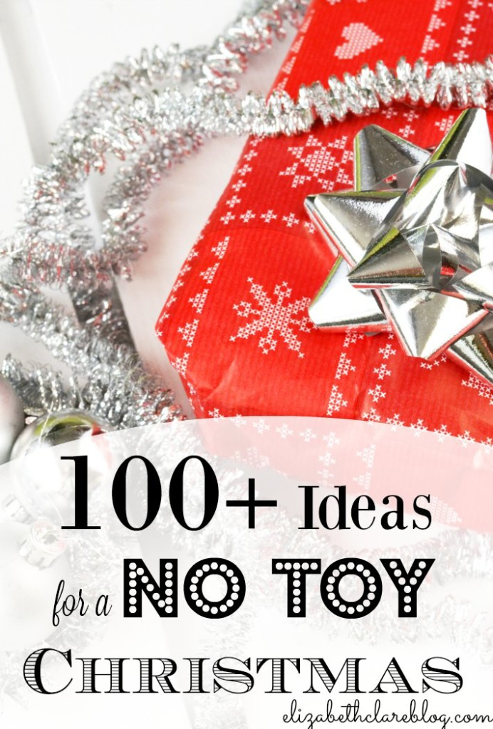 100 and more ideas for celebrating and giving this Christmas with no toys. A thorough non toy gift list for kids!