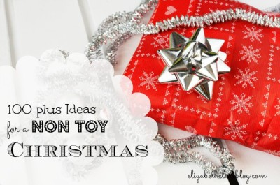 Give to your kids without adding to the toy pile using this no toy non toy Christmas list!