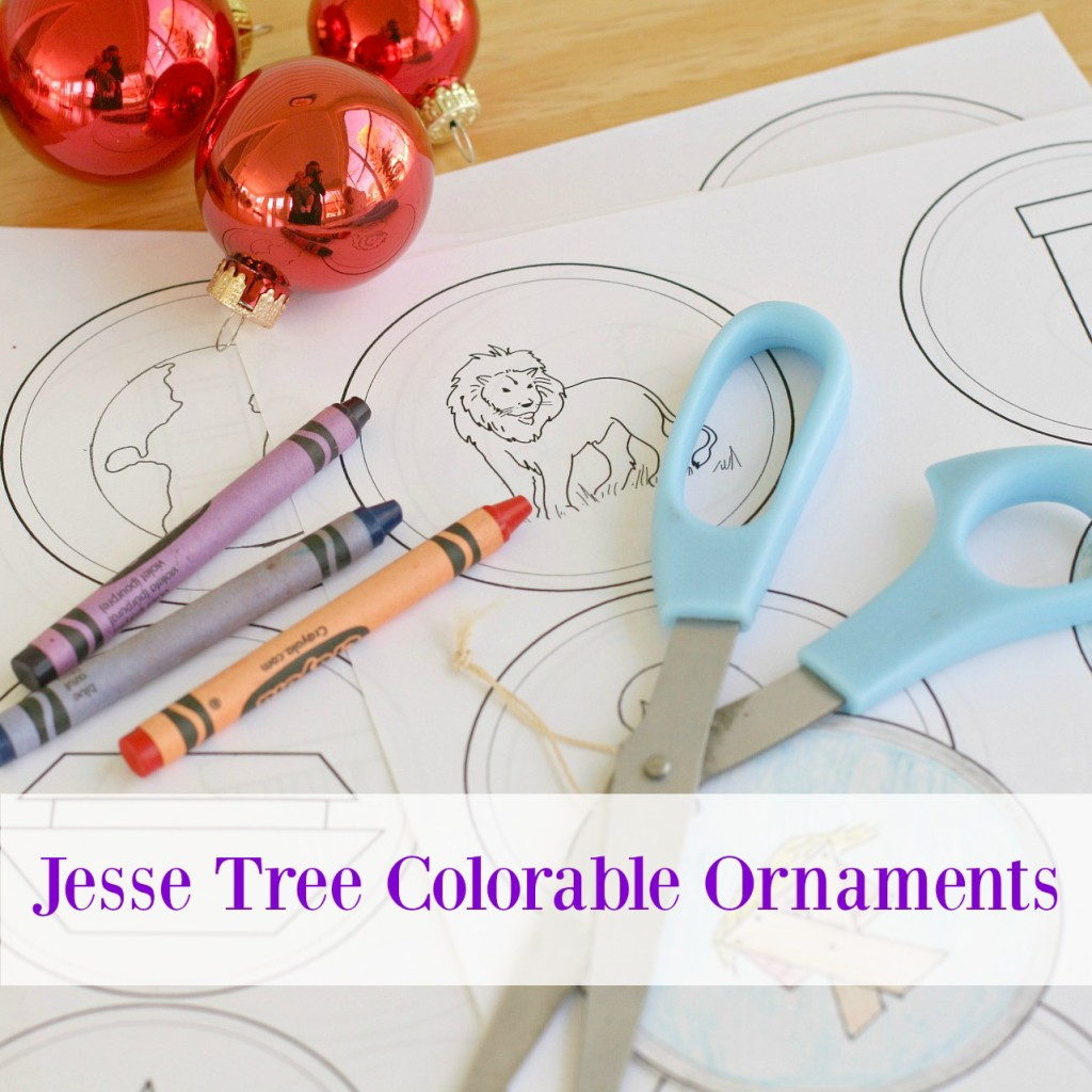 Jesse Tree Printable and Colorable Ornaments