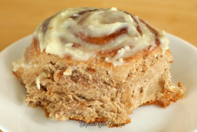 Delicious and (somewhat!) easy homemade whole wheat cinnamon rolls!