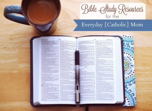 Bible Study Resources for the Everyday {Catholic} Mom