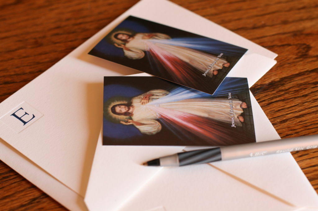 Mercy notes and service encouragement cards