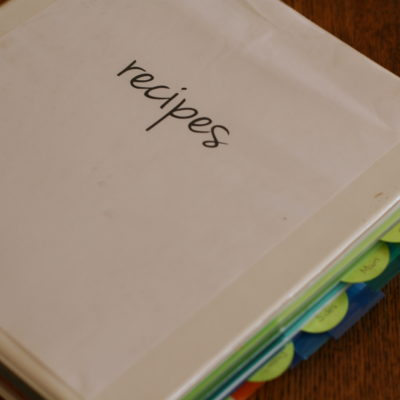 Refreshing my Recipe Binder (with printable!)