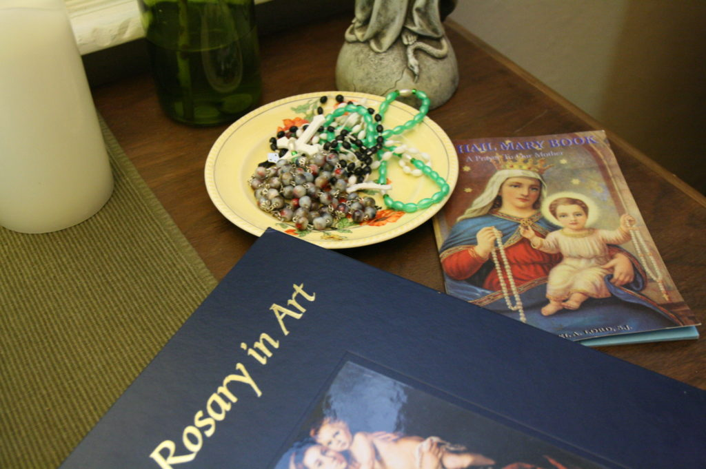 rosary in art october