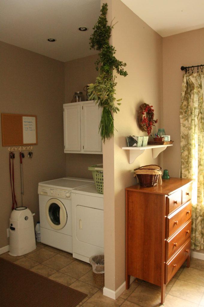 herbs, laundry room, house, homemaking
