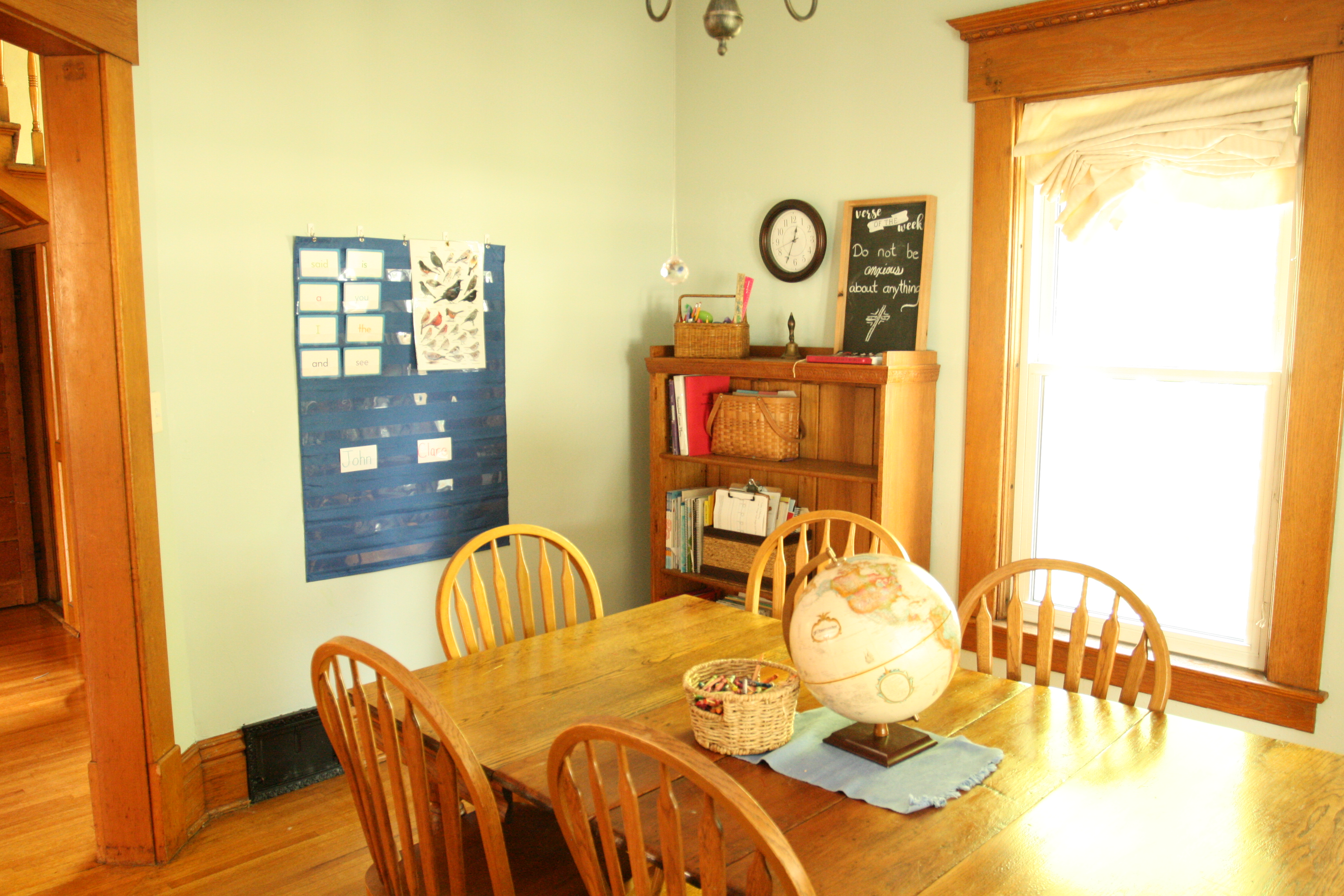 A Place to Learn: Tour Our Homeschool Room - elizabeth clare
