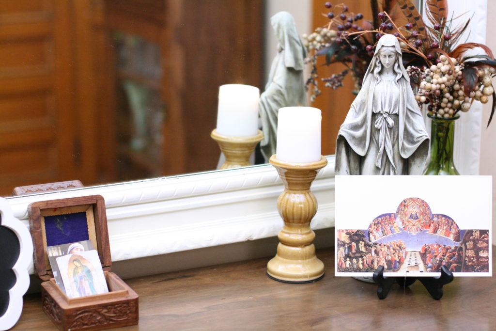 All Saints' Day Feast Table Or Catholic Home Altar