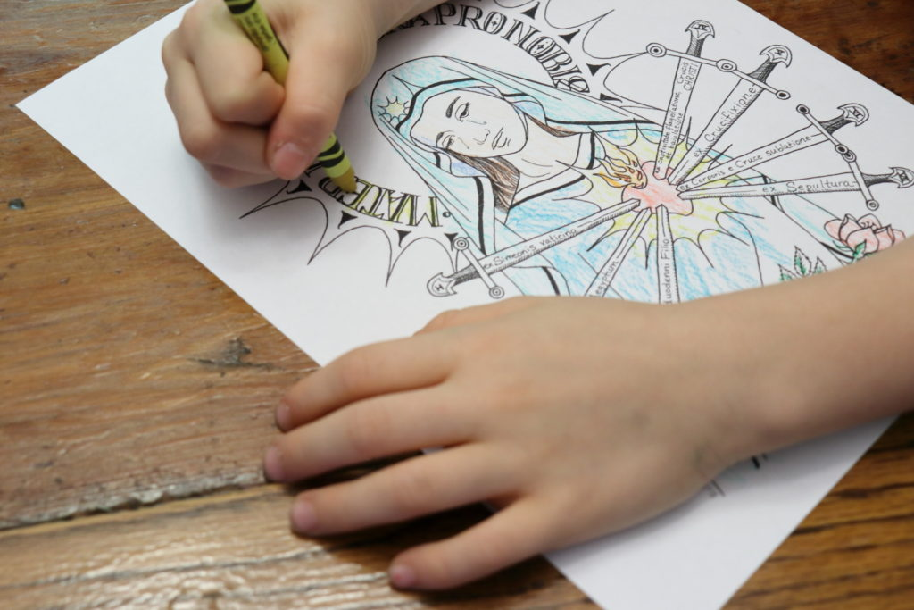 Our Lady of Sorrows Coloring Pages